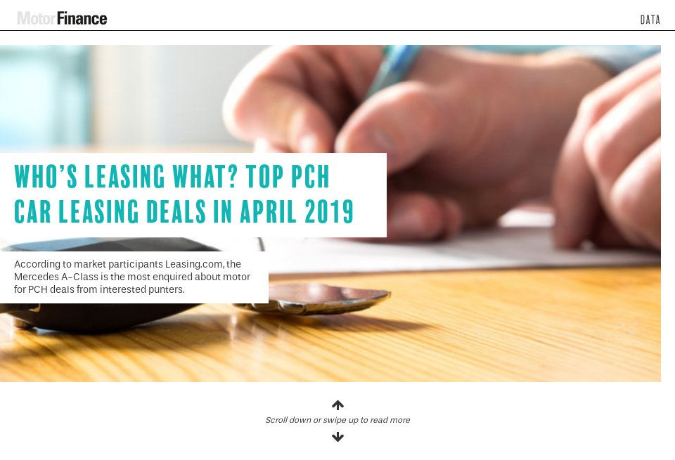 Who's leasing what? Top PCH car leasing deals in April 2019 - Motor